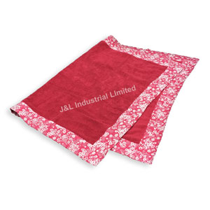 Terry Towel with Floral Printed Piping