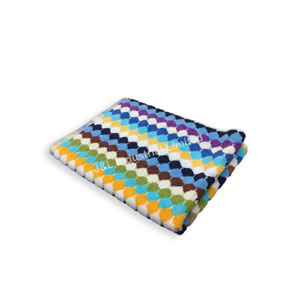 Bath Mat with Up & Down Jacquard Woven Pattern